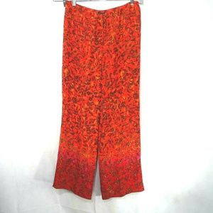 Sigrid Olsen Silk Pull-on Palazzio Pants Wide Leg